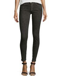 Current/Elliott Slim Crop Snakeprint Jeans - Lyst