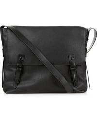 Lanvin - Grained-leather Messenger Bag - Lyst