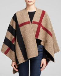 Burberry Prorsum Mega Check Cape - Lyst