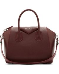Givenchy Oxblood Sugar Leather Small Antigona Bag - Lyst