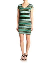 M Missoni Knit Bubble-Print Dress - Lyst