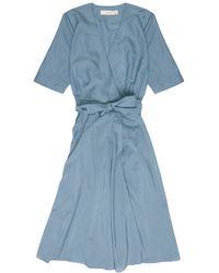 La Robe - Rose Voile Dress In Teal - Lyst