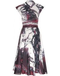Mary Katrantzou Callaway Printed Cotton and Silkblend Dress - Lyst