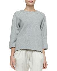 Donna Karan New York 3/4-Sleeve Easy Pullover - Lyst