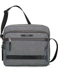 Tumi Grey Clifton Crossbody Small Flannel Messenger Bag - Lyst