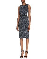 Michael Kors Mini Ikat Sheath Dress with Belt - Lyst