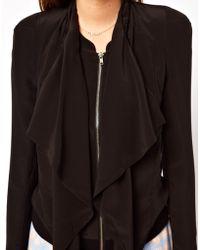 Dress Gallery - Draped Jacket in Multilayered Silk - Lyst
