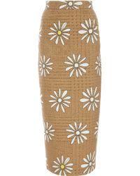 Natasha Zinko Daisy Wool Blend Pencil Skirt - Lyst