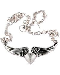 Femme Metale Jewelry Wings O Luv Necklace - Lyst