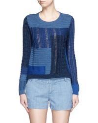 Diane von Furstenberg | 'padma Intarsia' Mix Patchwork Cotton Sweater | Lyst