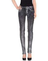 Miss Sixty Denim Trousers gray - Lyst