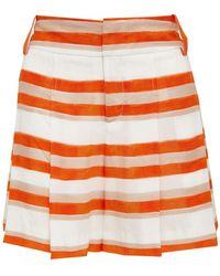 Alice + Olivia Hw Flutter Shorts orange - Lyst