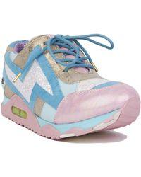 Irregular Choice - Big Bolt Trainers - Pink/blue - Lyst