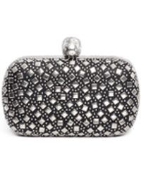Alexander McQueen Stud Skull Leather Box Clutch - Lyst