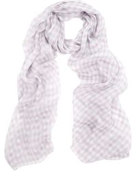 Aquascutum Club Check Silk Scarf - Lyst