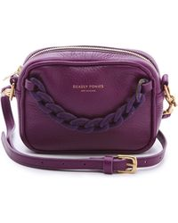 Deadly Ponies Mr Cub Chain Clutch Rust purple - Lyst
