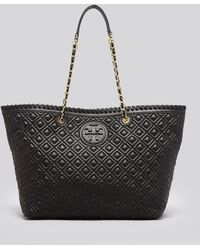 Tory Burch Tote - Marion Quilted Small East West - Lyst