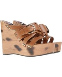 D&G Brown Sandals - Lyst