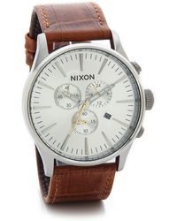 Nixon Sentry Chrono Watch - Lyst