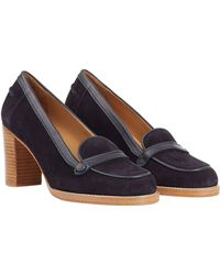A.P.C. Suede Loafer Pumps - Lyst