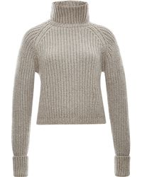 Marni Ribbed Wool-blend Turtleneck Sweater - Lyst