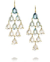 Ippolita Gemma Cascade 18karat Gold Quartz and Topaz Earrings - Lyst