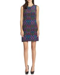 M Missoni Ikatprint Silk Shift Dress - Lyst