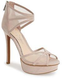 Jessica Simpson 'Ceyanna' Platform Sandal beige - Lyst