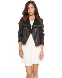 Veda Max Classic Leather Jacket Black - Lyst