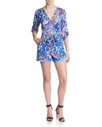 Yumi Kim Liz Floral-Print Short Jumpsuit - Lyst