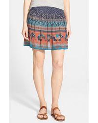 Hinge - Print Crinkly Skirt - Lyst