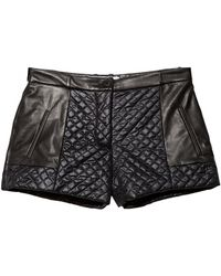 Thakoon Addition Quilted Leather Shorts - Lyst