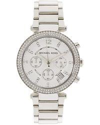 Michael Kors Parker 39Mm Chronograph Glitz Watch - Lyst