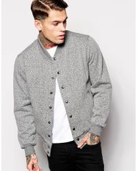 American Apparel - Salt & Pepper Sweat Bomber - Lyst