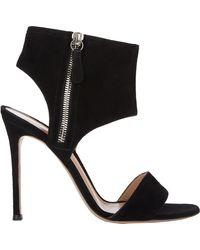 Gianvito Rossi Zip Cuff Sandals - Lyst