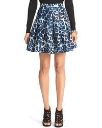Diane von Furstenberg Gemma Mikado Pleated Skirt - Lyst