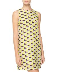 M Missoni Trianglepattern Crepe Shift Dress - Lyst