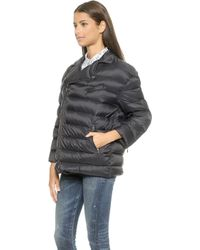 RED Valentino Zip Up Puffer Jacket - Navy - Lyst