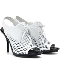 Balenciaga Perforated Leather Sling-back Sandals - Lyst