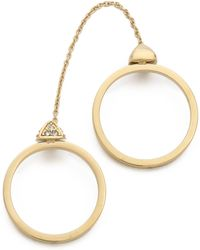 Rebecca Minkoff - Pave Pyramid Chain Ring Gold - Lyst
