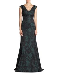 David Meister Sleeveless Taffeta Gown - Lyst