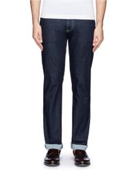 Canali Straight Leg Cotton Jeans - Lyst