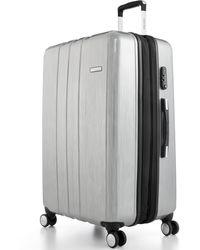 "Calvin Klein Bridgehampton 25"" Expandable Hardside Spinner Suitcase silver - Lyst"