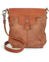 Frye Tracy Leather Crossbody Bag brown - Lyst