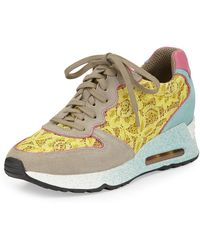 Ash Love Lace Leather Trainer - Lyst