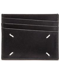 Maison Margiela Leather Card Case - Lyst