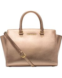 Michael Kors Michael Selma Large Top Zip Satchel - Lyst