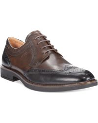 Ecco Biarritz Wing-Tip Oxfords - Lyst