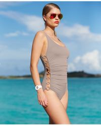 DKNY Ring Cutout One-Piece Swimsuit - Lyst