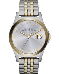Marc By Marc Jacobs 36mm The Slim Twotone Watch with Bracelet - Lyst
